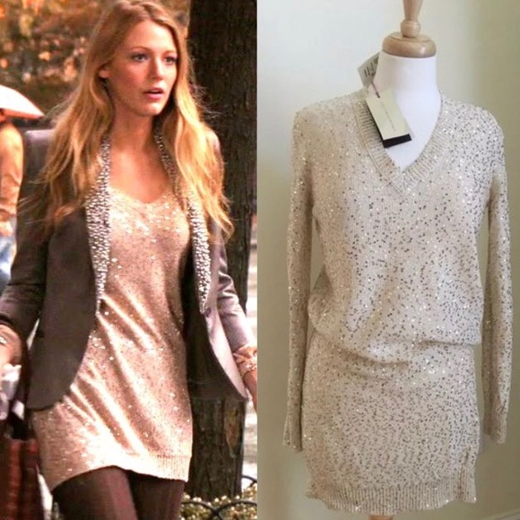 d367dfca9c Gossip Girl Stella McCartney Sequin Sweater Dress